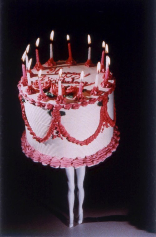Walking+Cake+I%2C+Color%2C+1989+-+by+laurie+simmons